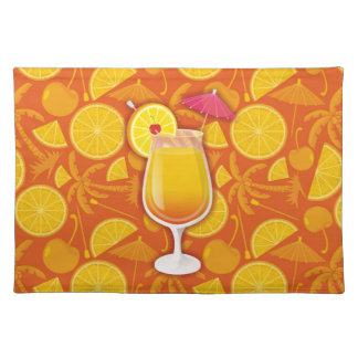 Tequila sunrise cloth placemat