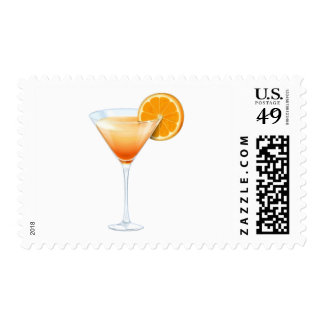 Tequila Sunrise Cocktail Postage Stamps
