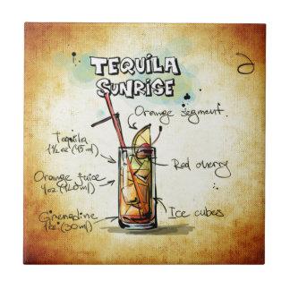 Tequila Sunrise Cocktail Recipe Ceramic Tile
