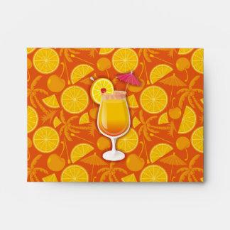 Tequila sunrise envelope