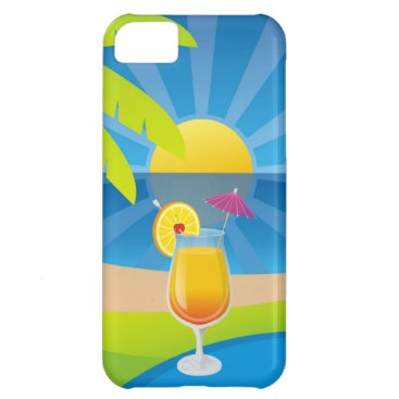 Beach Themed Tequila sunrise iPhone 5C cover