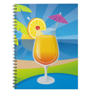 Tequila sunrise notebook