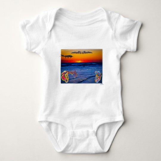 Tequila Sunrise Over Atlantic Big Beach Big Fun Baby Bodysuit