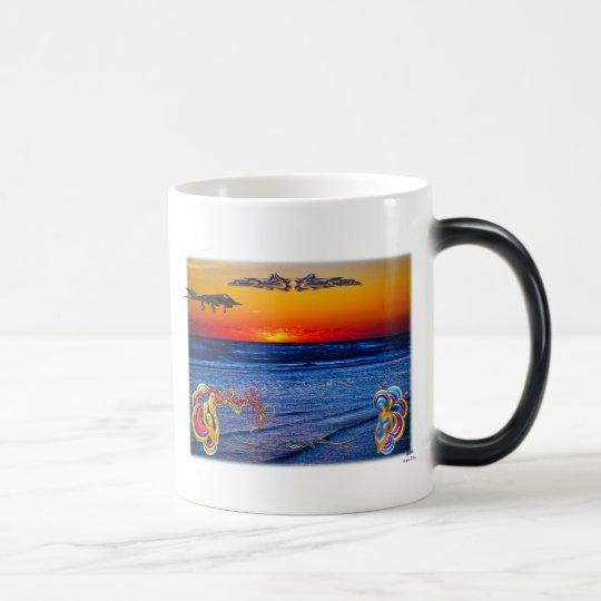 Tequila Sunrise Over Atlantic Big Beach Big Fun Magic Mug