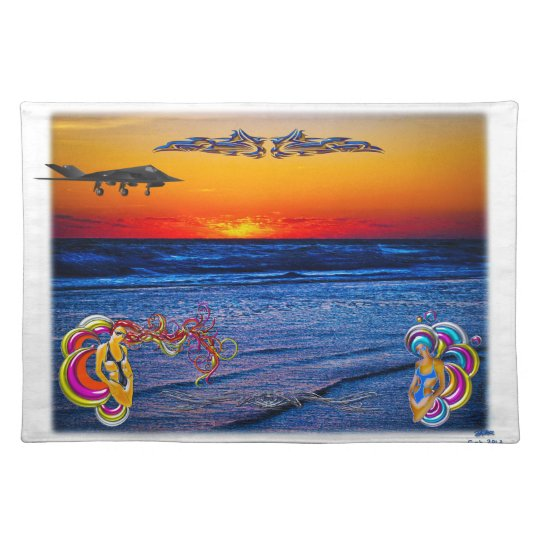 Tequila Sunrise Over Atlantic Big Beach Big Fun Placemat