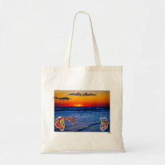 Tequila Sunrise Over Atlantic Big Beach Big Fun Tote Bag