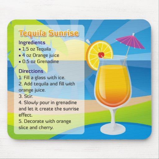 funny office picture ideas - Tequila Sunrise Recipe Mousepad