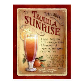 tequila sunrise recipe postcard