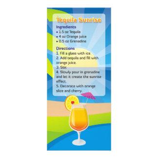 Tequila Sunrise Recipe Rack Card