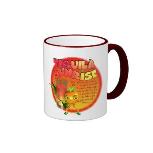 Tequila Sunrise recipe Ringer Coffee Mug