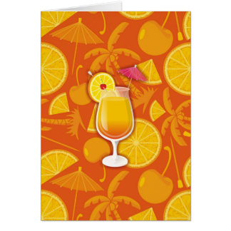 Tequila sunrise stationery note card