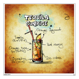 Tequila Sunrise Wall Sticker