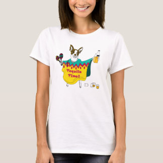 "Tequila Time!"" Chihuahua T-Shirt"