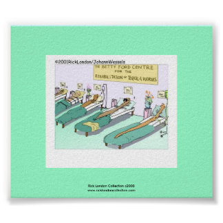 Tequila Worm Rehab Funny Cartoon Poster