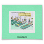 Tequila Worm Rehab Funny Cartoon Poster Poster