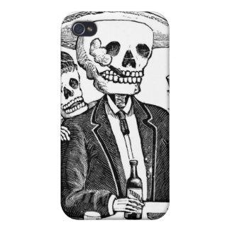 Tequila y el fumar de consumición esqueléticos iPhone 4/4S funda