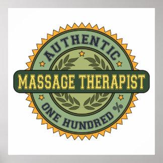 Terapeuta auténtico del masaje impresiones