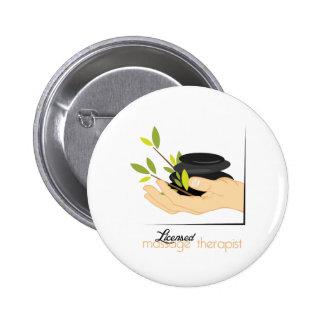 Terapeuta autorizado del masaje pin