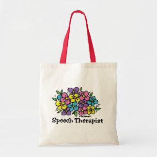 Terapeuta de discurso Blooms1 Bolsa Tela Barata