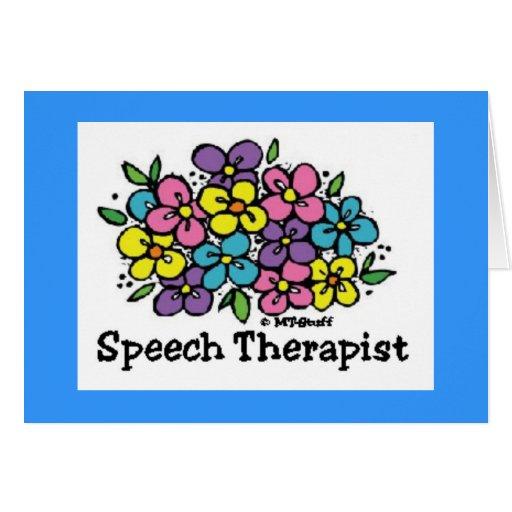 Terapeuta de discurso Blooms1 Tarjetón