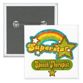Terapeuta de discurso de la superestrella pin