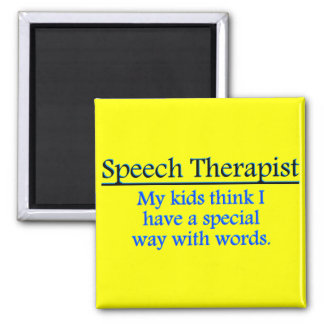 Terapeuta de discurso imán cuadrado