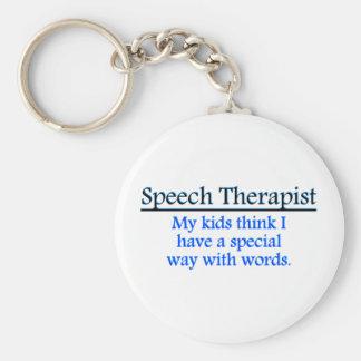 Terapeuta de discurso llavero redondo tipo pin