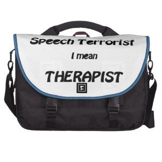 Terapeuta de discurso (o terrorista?) bolsa de ordenador