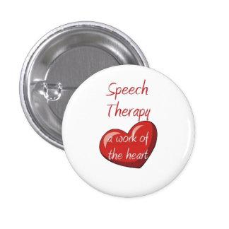 Terapeuta de discurso pin redondo de 1 pulgada