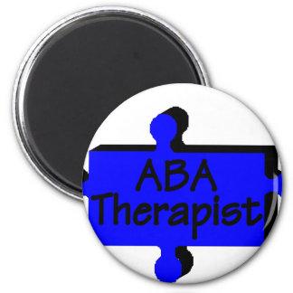 Terapeuta del ABA (azul) Imanes De Nevera