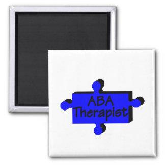 Terapeuta del ABA (azul) Imanes Para Frigoríficos