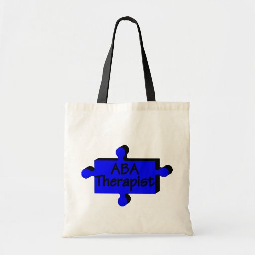 Terapeuta del ABA (azul P) Bolsa Tela Barata