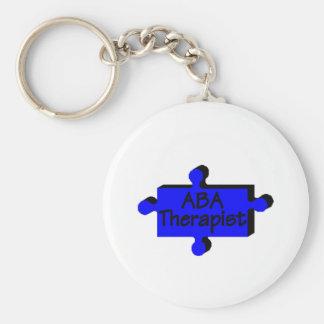 Terapeuta del ABA (azul P) Llavero Redondo Tipo Pin