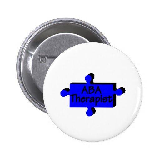 Terapeuta del ABA (azul P) Pin Redondo 5 Cm