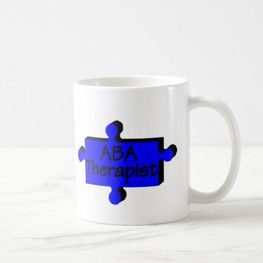 Terapeuta del ABA (azul) Tazas De Café