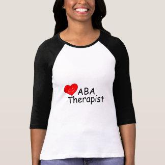 Terapeuta del ABA corazón de S Camiseta