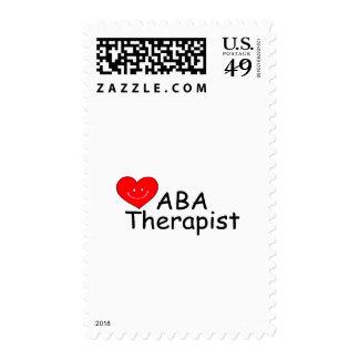 Terapeuta del ABA (corazón de S) Sellos