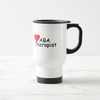 Terapeuta del ABA (corazón de S) Taza De Viaje