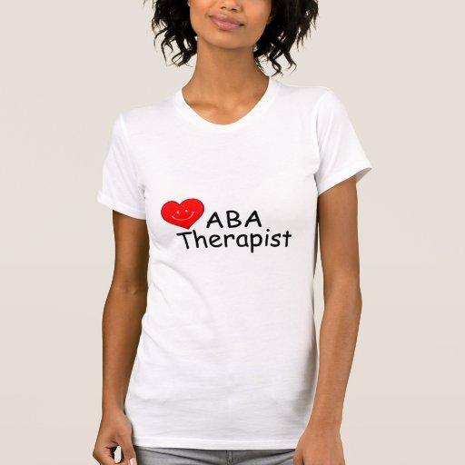 Terapeuta del ABA (corazón) Remeras