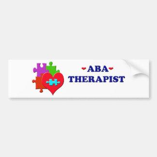 Terapeuta del ABA Pegatina Para Auto