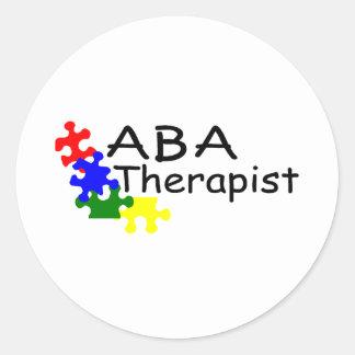 Terapeuta del ABA Pegatina Redonda