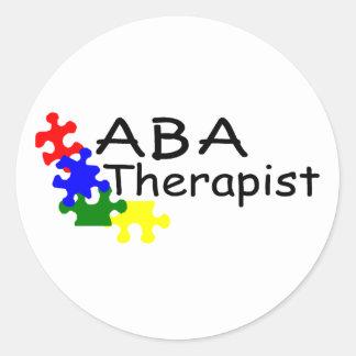 Terapeuta del ABA (PP) Pegatina Redonda