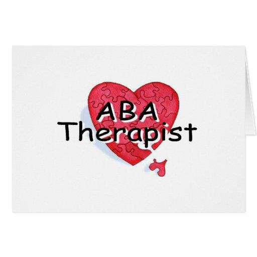 Terapeuta del ABA (rompecabezas de Hrt) Tarjeta