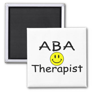 Terapeuta del ABA (smiley) Imán Para Frigorifico