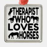 Terapeuta del amante del caballo adornos de navidad