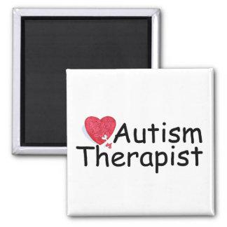 Terapeuta del autismo (rompecabezas Hrt) Imán Para Frigorífico