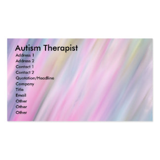 Terapeuta del autismo tarjetas de visita