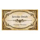 Terapeuta del masaje - antigüedad elegante del vin tarjetas de visita