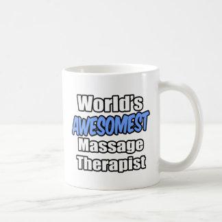 Terapeuta del masaje de Awesomest del mundo Taza