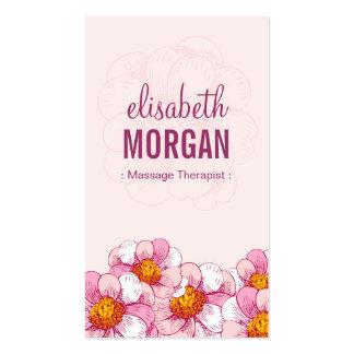 Terapeuta del masaje - flores rosadas del boutique
